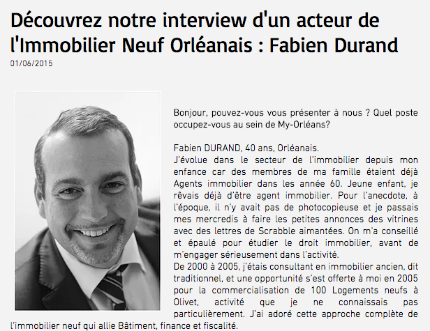 photo Interview Fabien DURAND - My ORLEANS 1