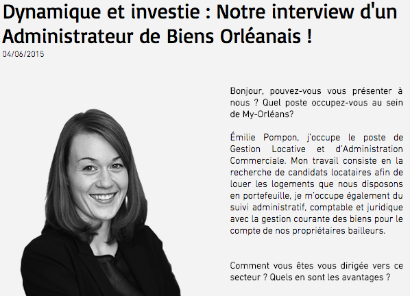 photo Interview Emilie Pompon - My ORLEANS 1