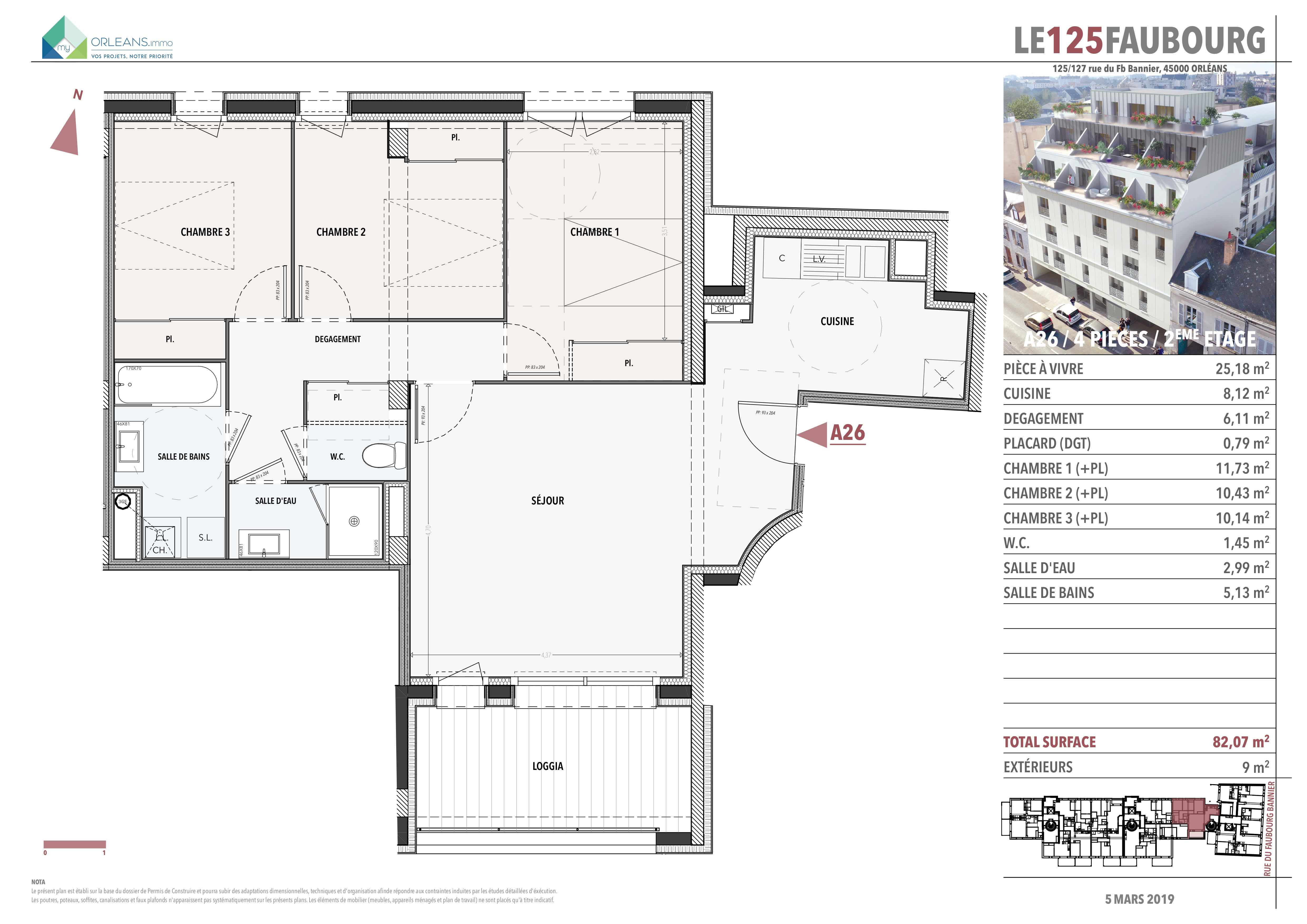 plan Appartement L125FB-A26