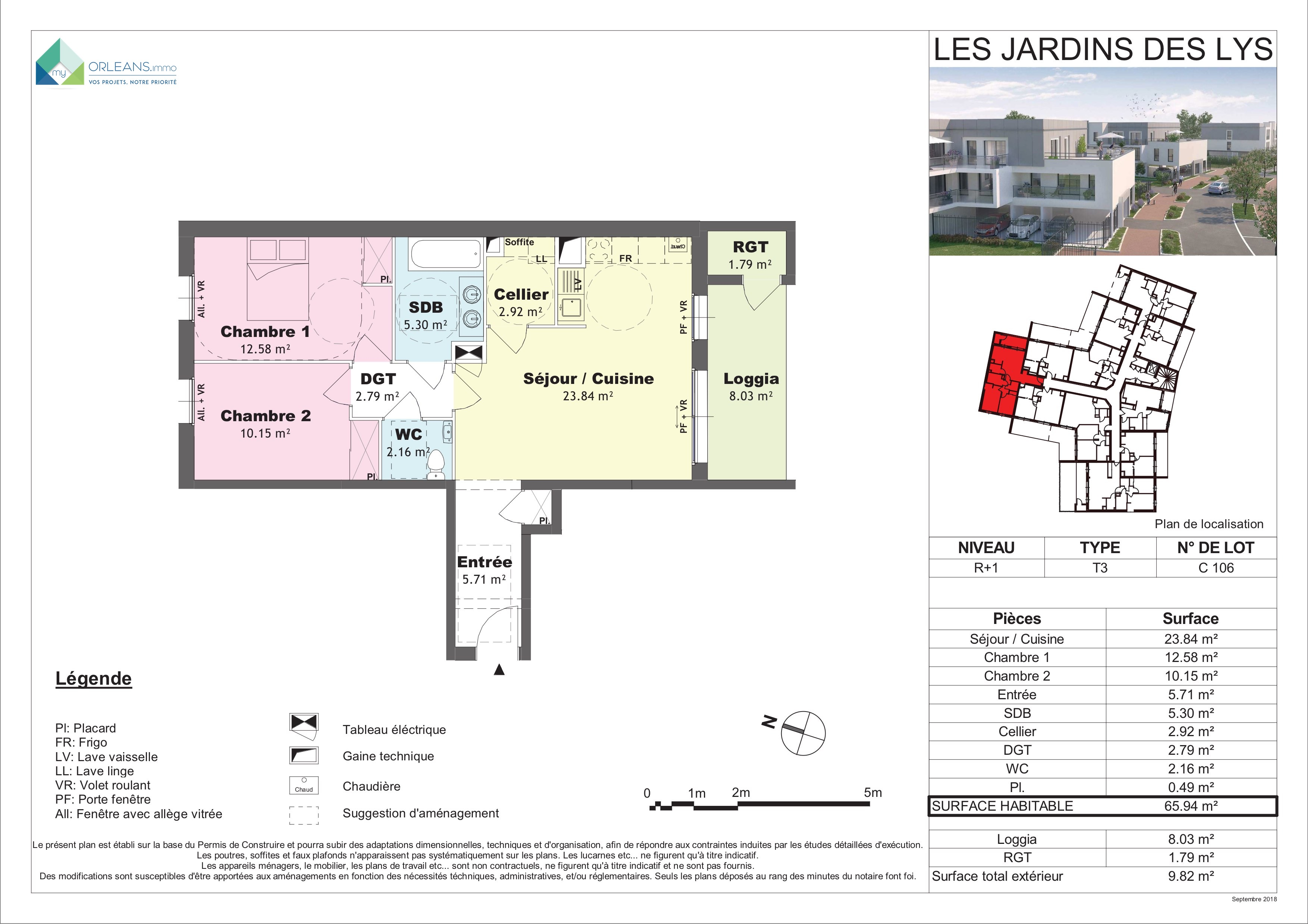 plan Appartement C106