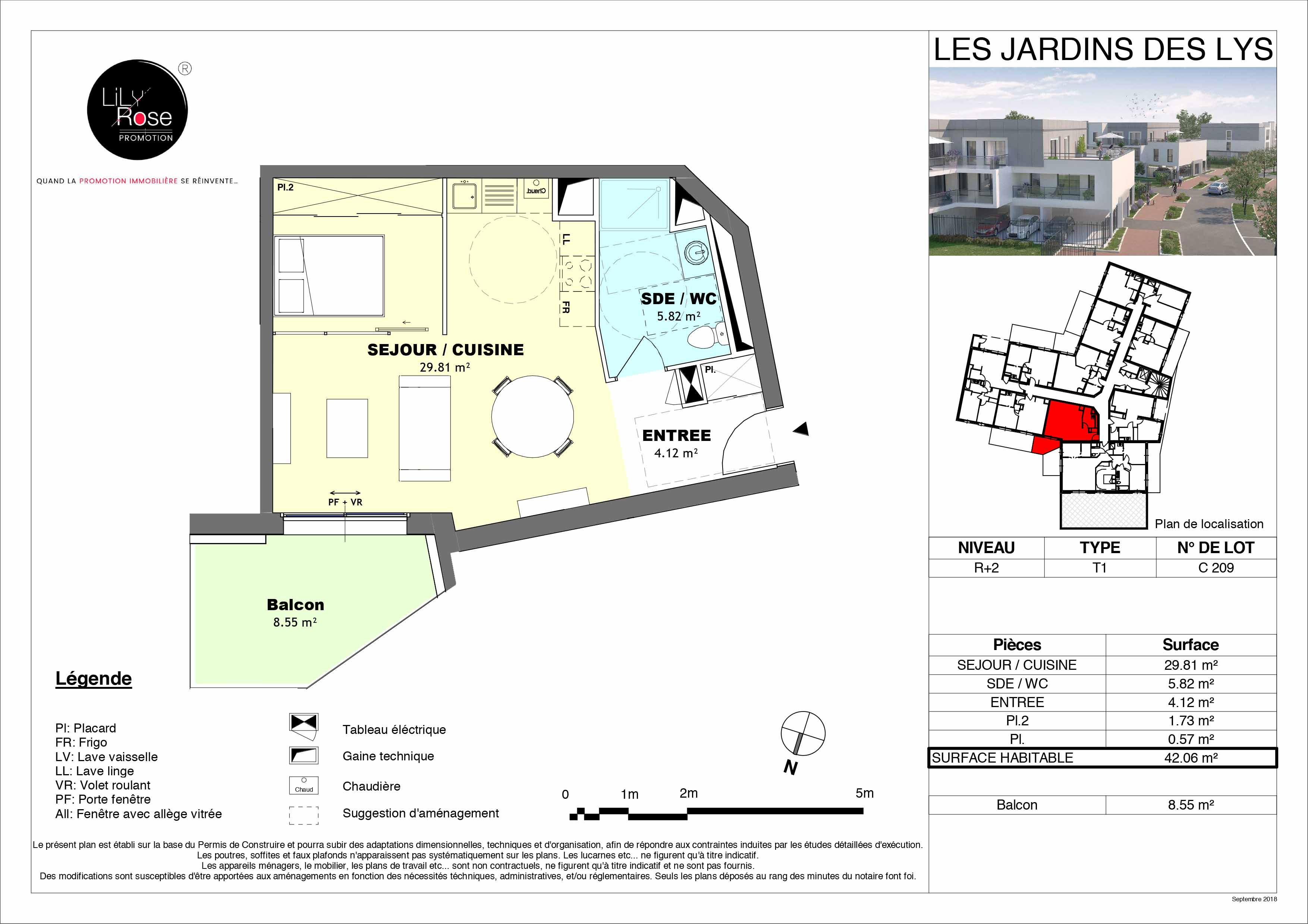 plan Appartement C209